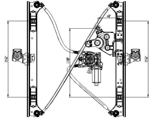 Aftermarket WINDOW REGULATORS for CHEVROLET - TRAILBLAZER, TRAILBLAZER,02-9,LEFRONT HANDSIDE FRONT REGULTR